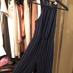 Other - Beautiful navy and white striped jumpsuit